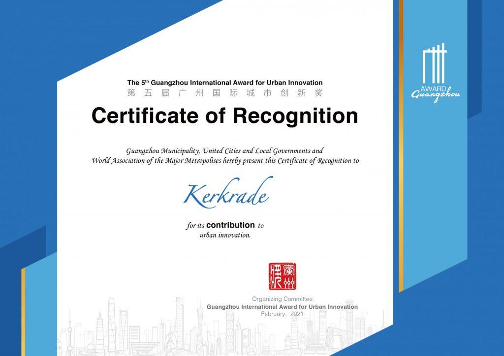 Certificaat Guangzhou award